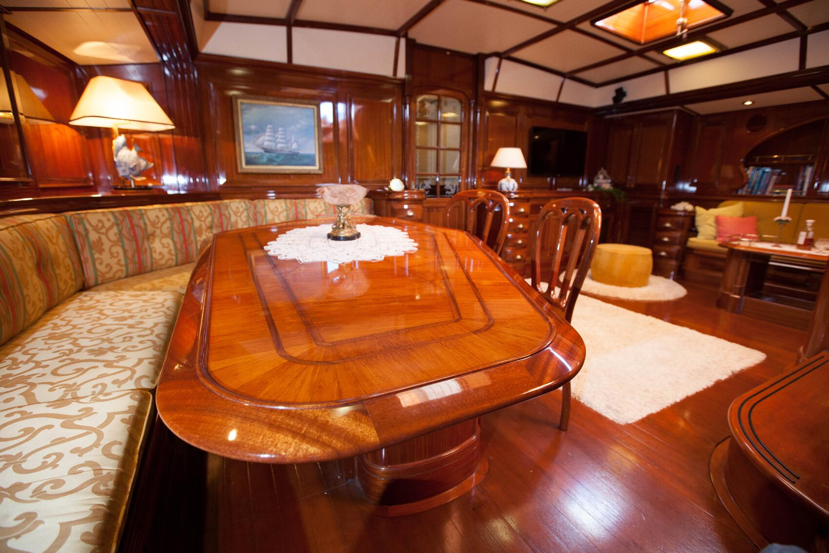 Sailing Yacht Dining Room