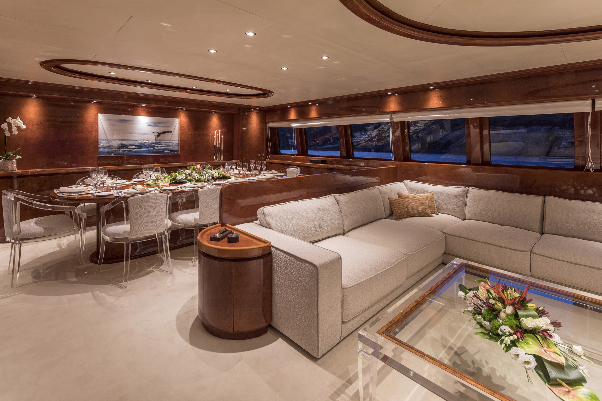 Salon Lounge With Formal Dining