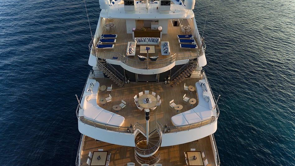 Serenity Aerial View Of The Aft Decks