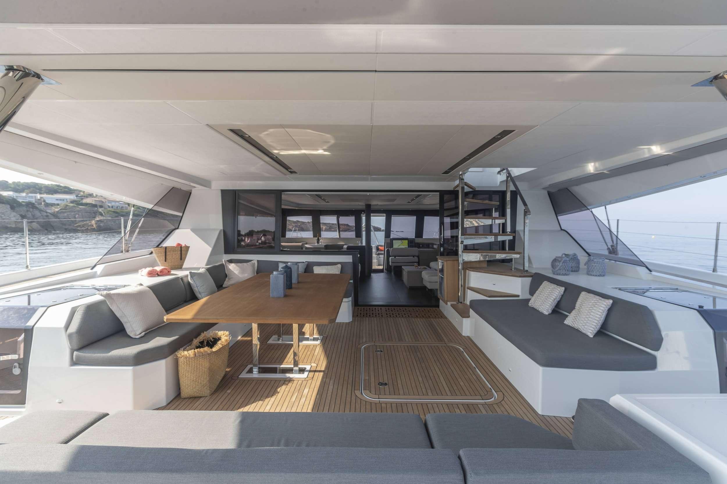 Spacious Aft Deck Living Area