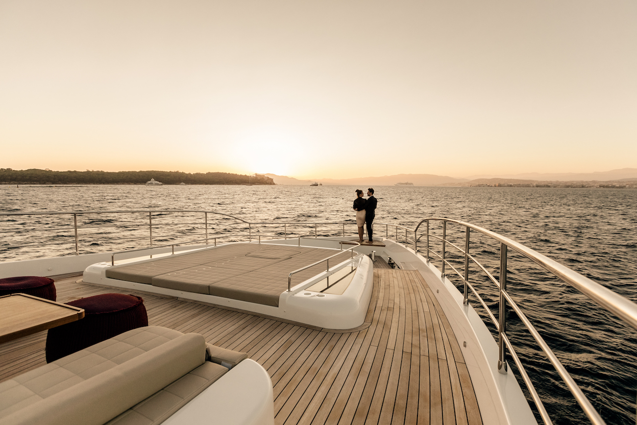Sun Deck With Couple Lifestyle