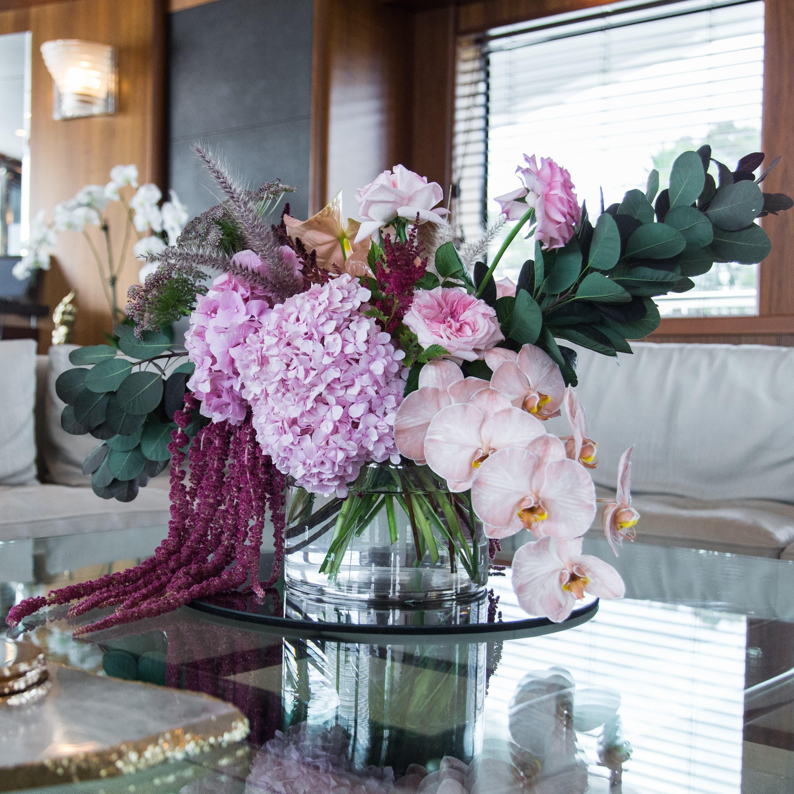 Superyacht Saloon Flower Arrangement