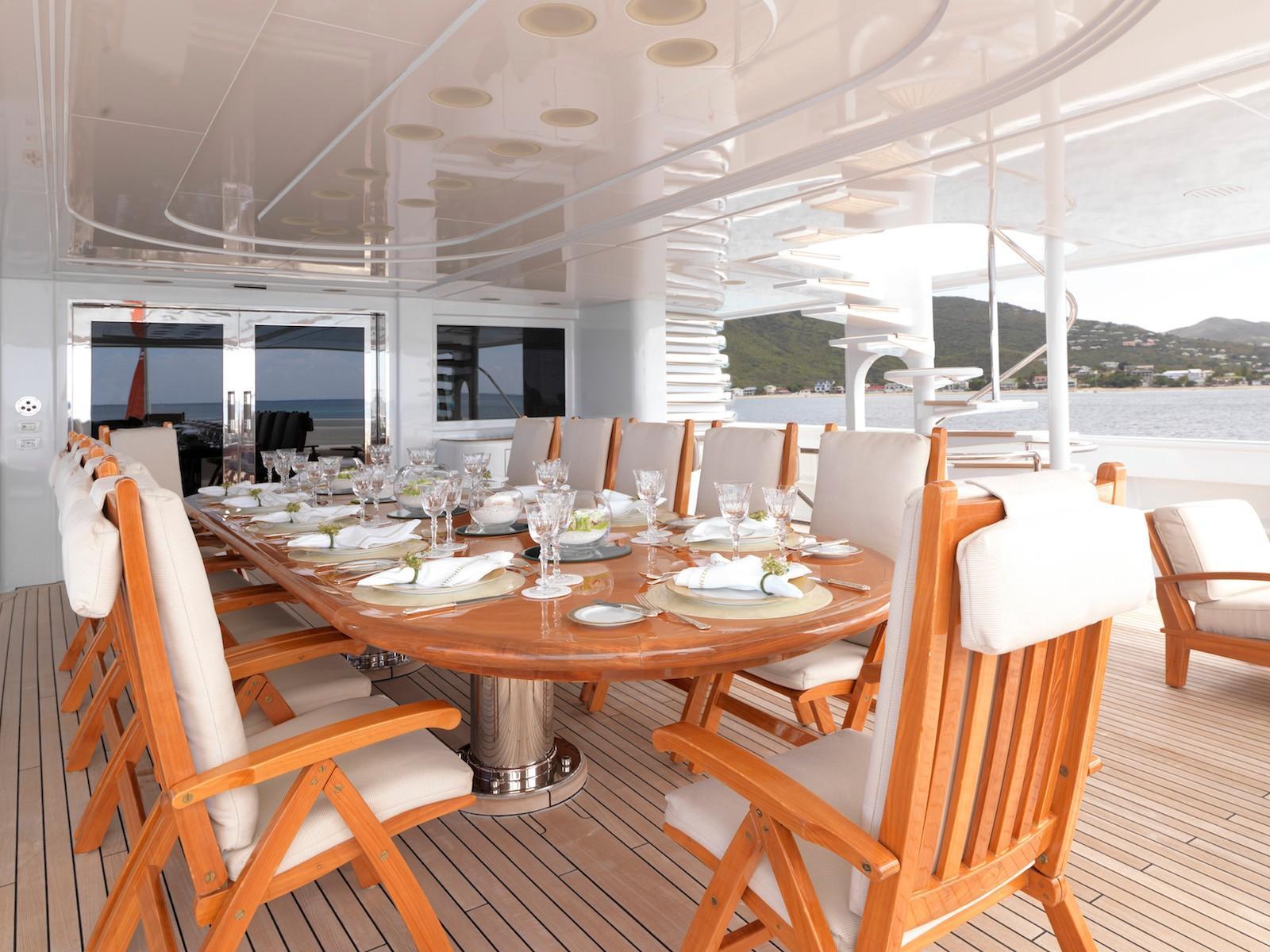 Yacht APOGEE - Al Fresco Dining