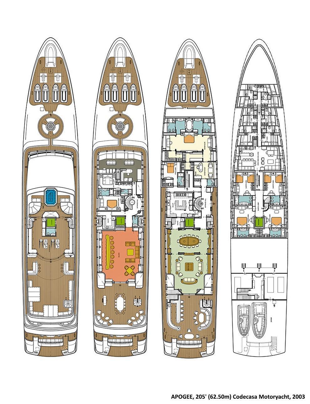 Yacht APOGEE - Arrangement