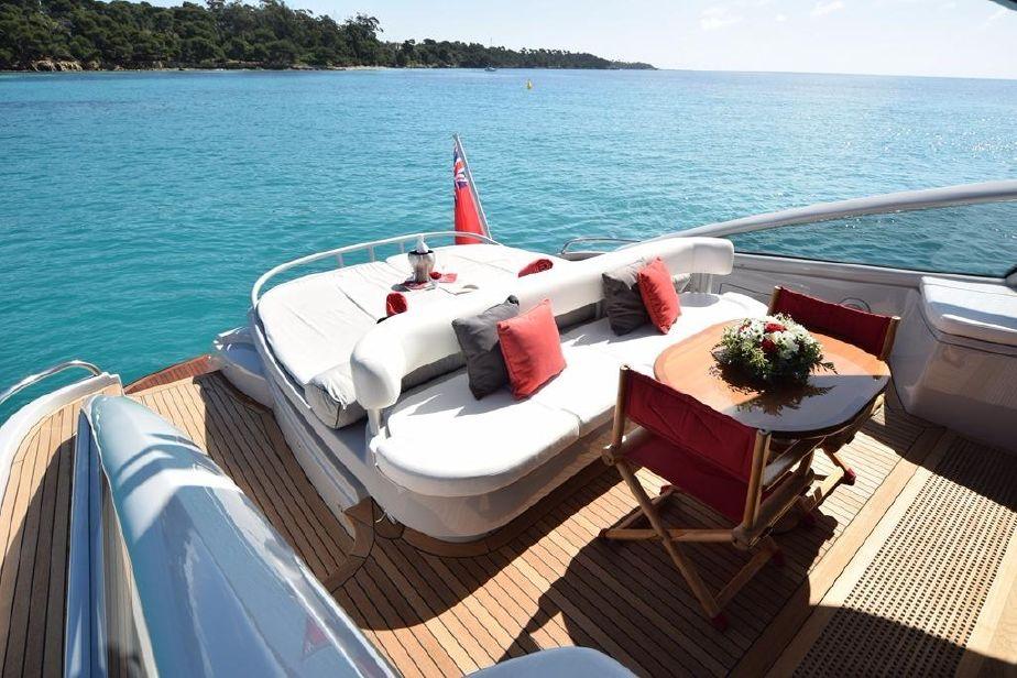 Yacht Baia 78 Aft Deck