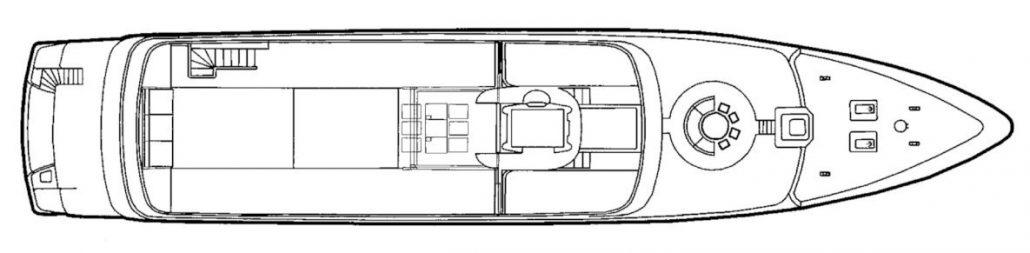 Yacht MARIU - General Arrangement - Sundeck