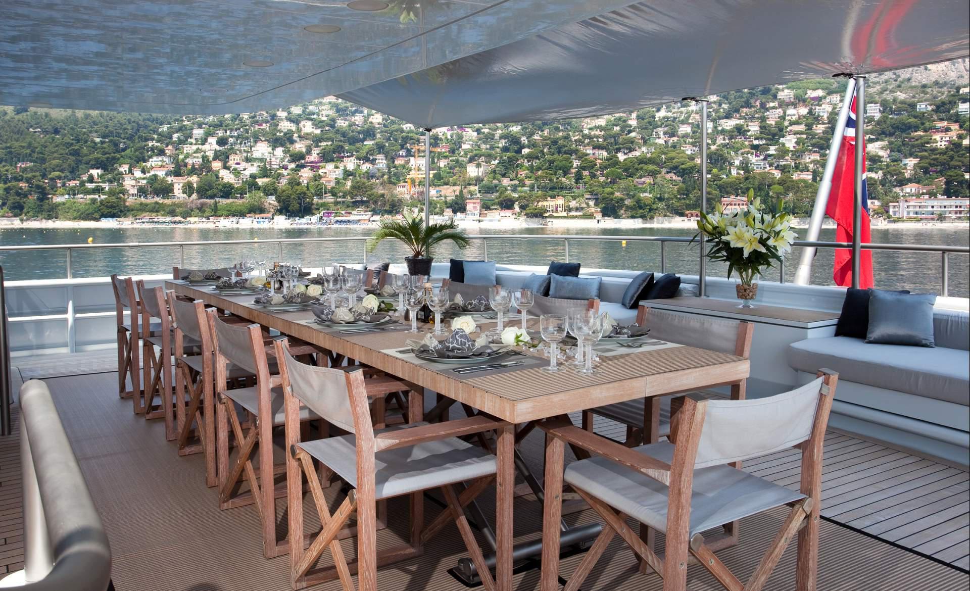 Yacht MARIU - Mediterranean Aft Al Fresco Dining