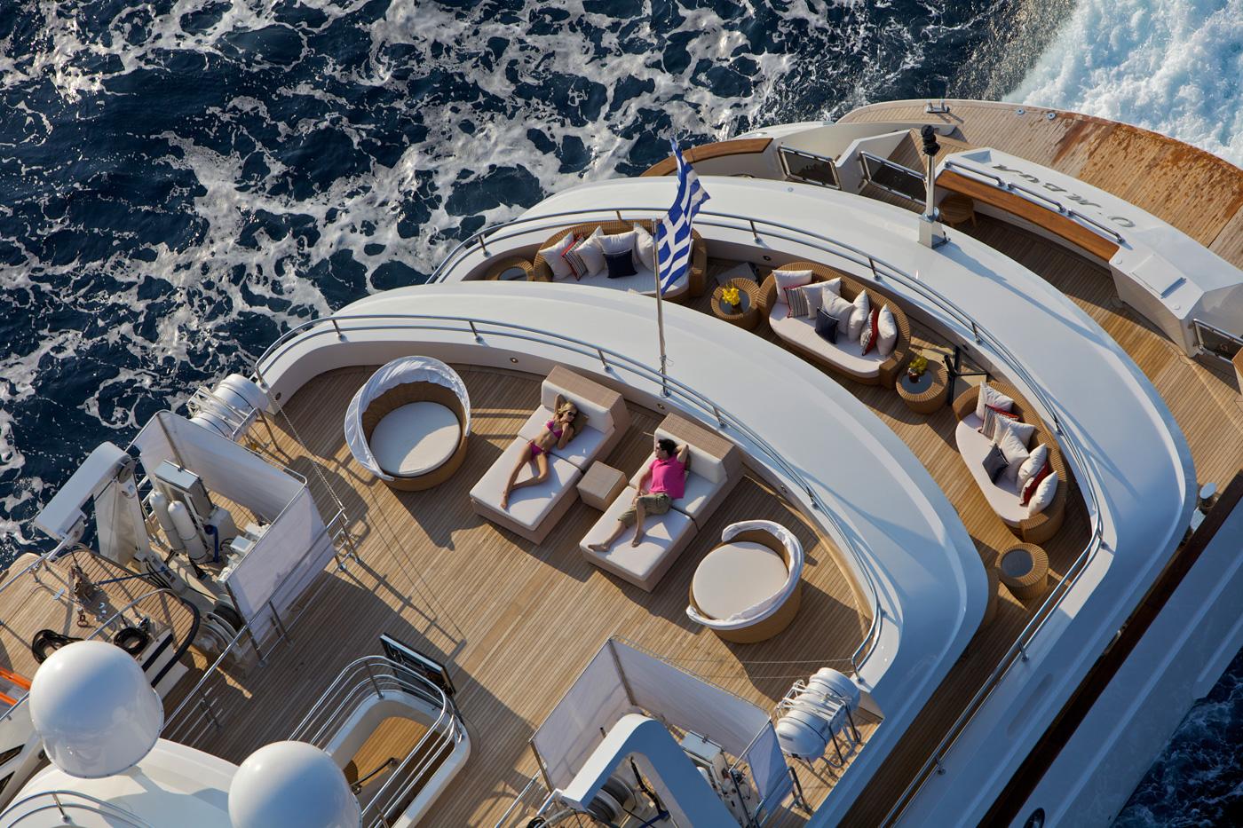 Yacht OMEGA - Sun Decks