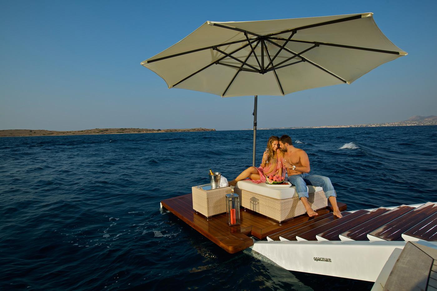 Yacht OMEGA - Aft Swim