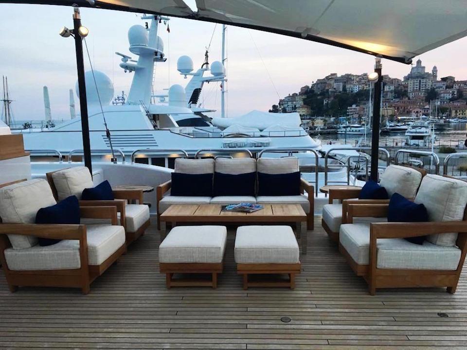 Yacht SAMADHI - Aft Deck