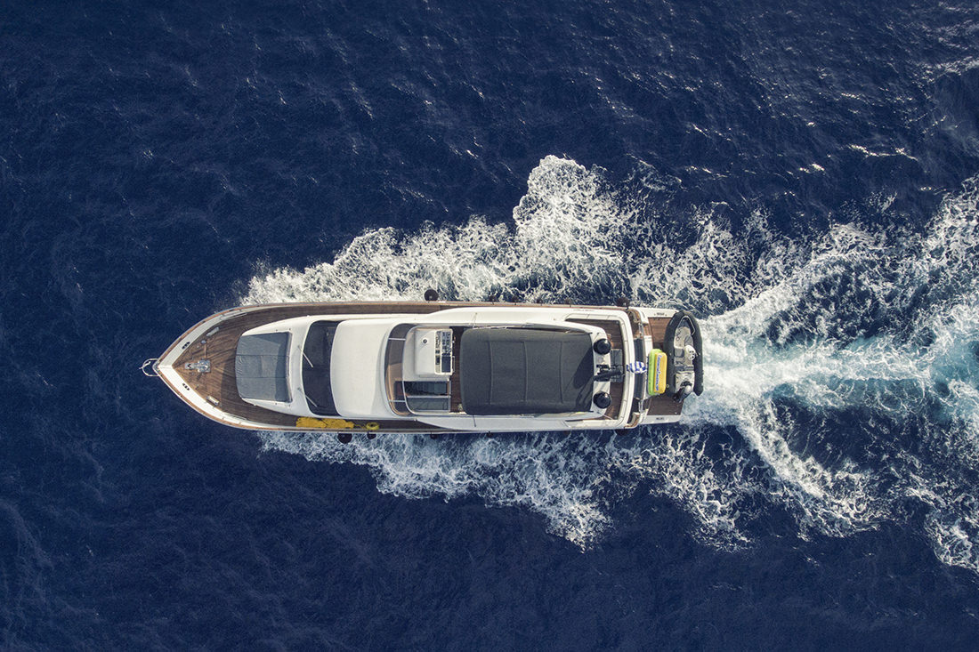 Aerial View Of Motor Yacht SALTY