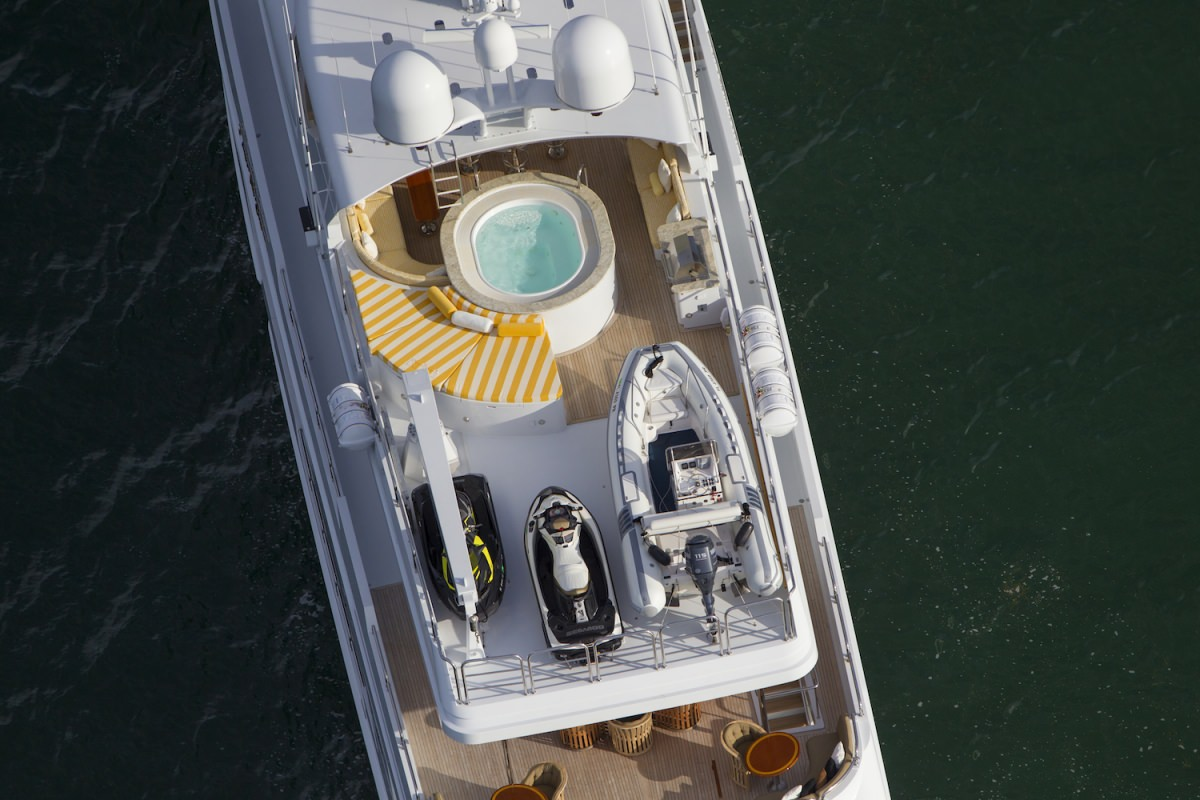 Aerial View Of The Sun Deck With Jacuzzi