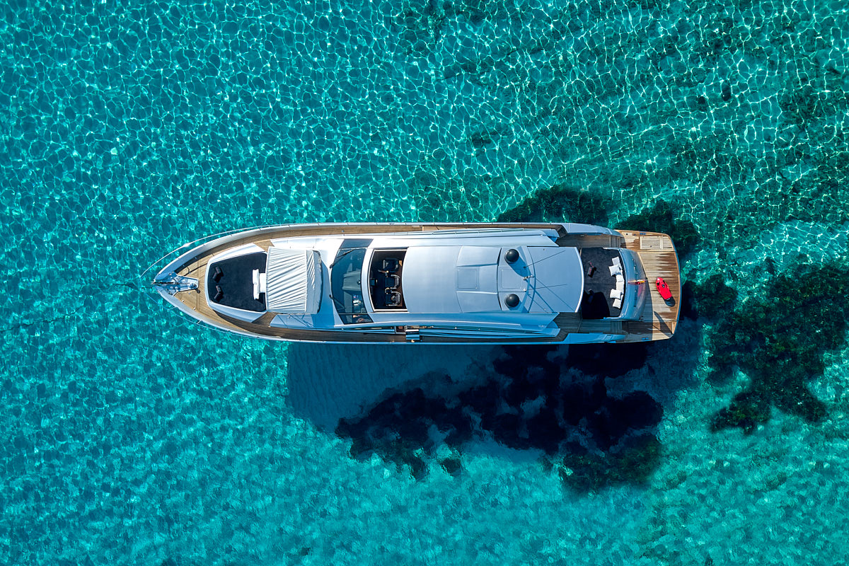 Aerial View Of The Yacht HALLEY