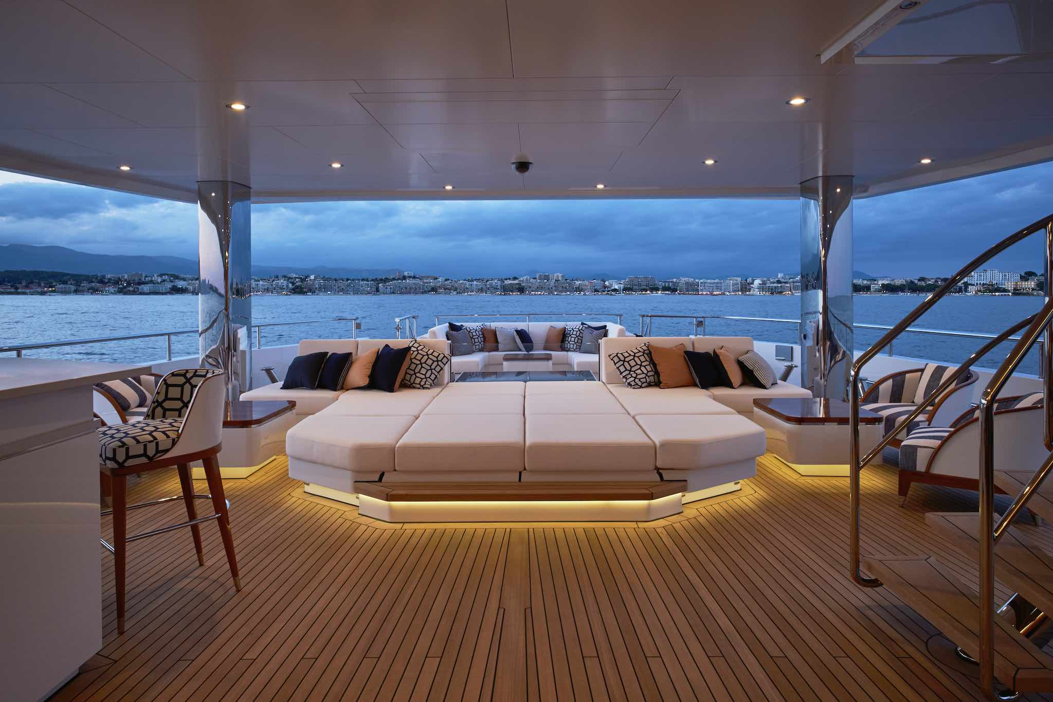 Aft Deck At Night