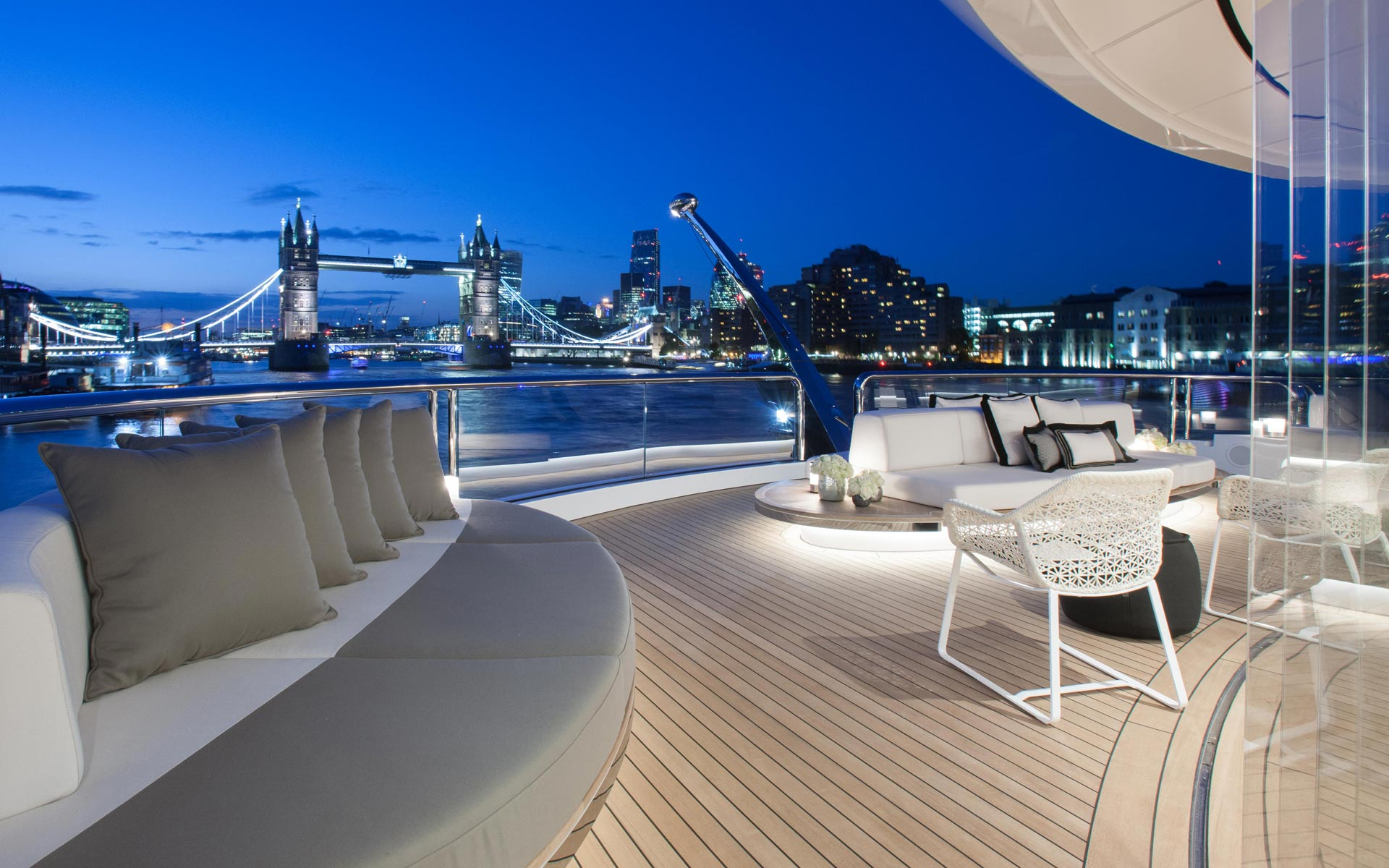 Aft Deck By Night In London
