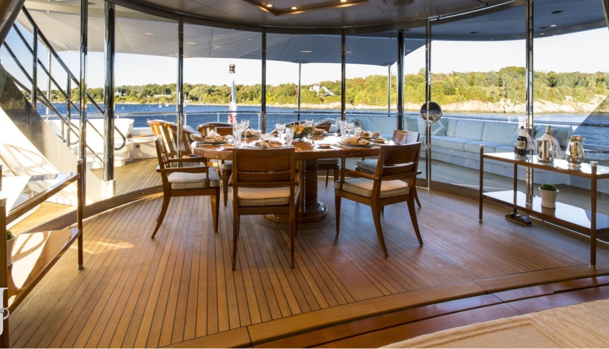 Aft Deck Dining With Glazed Doors