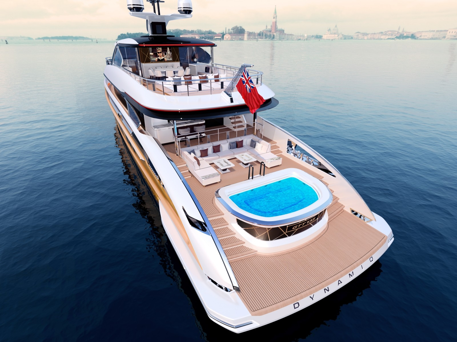 Aft View With Jacuzzi And Swim Platform