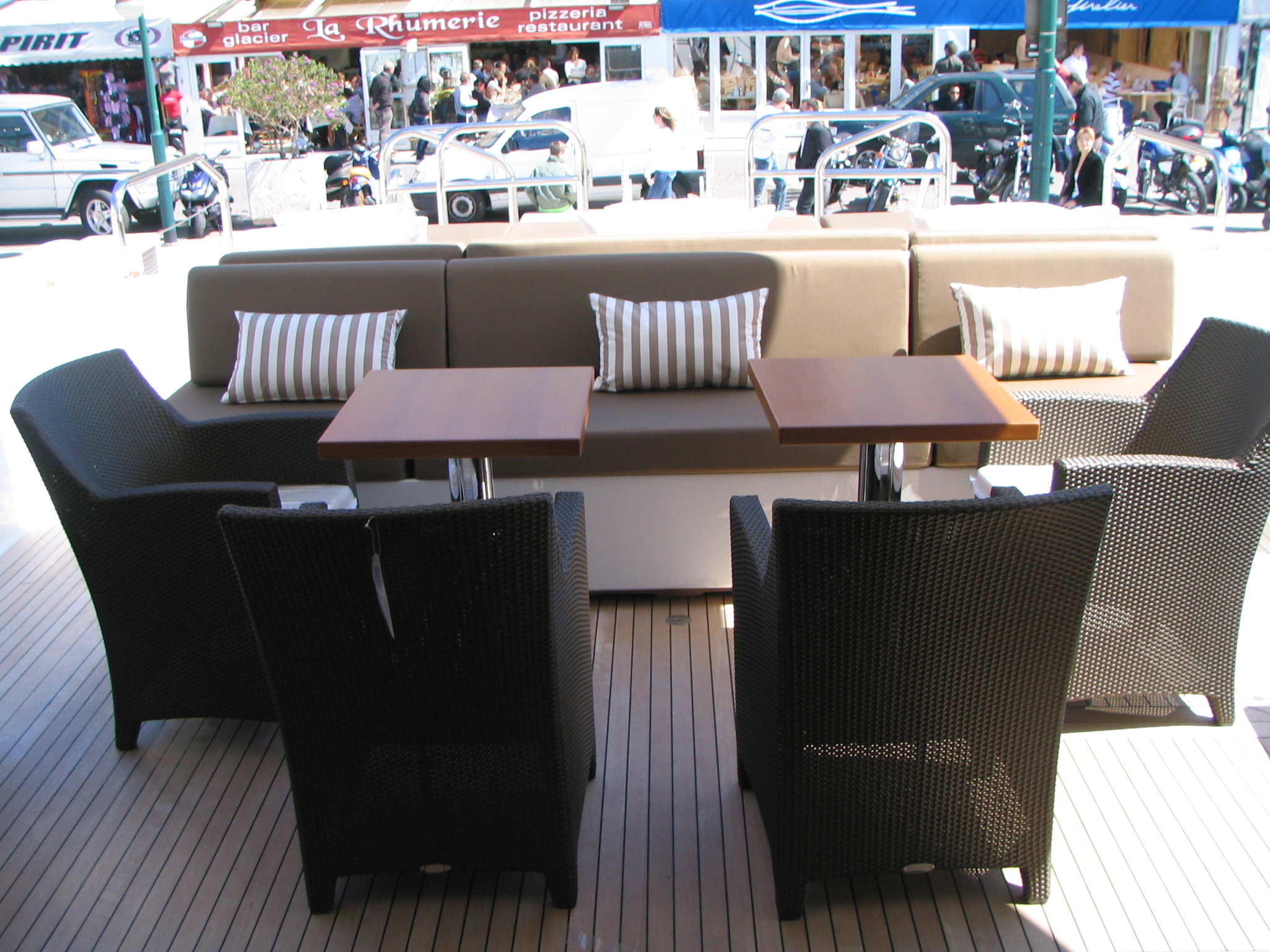 Alfreco Dining On Aft Deck