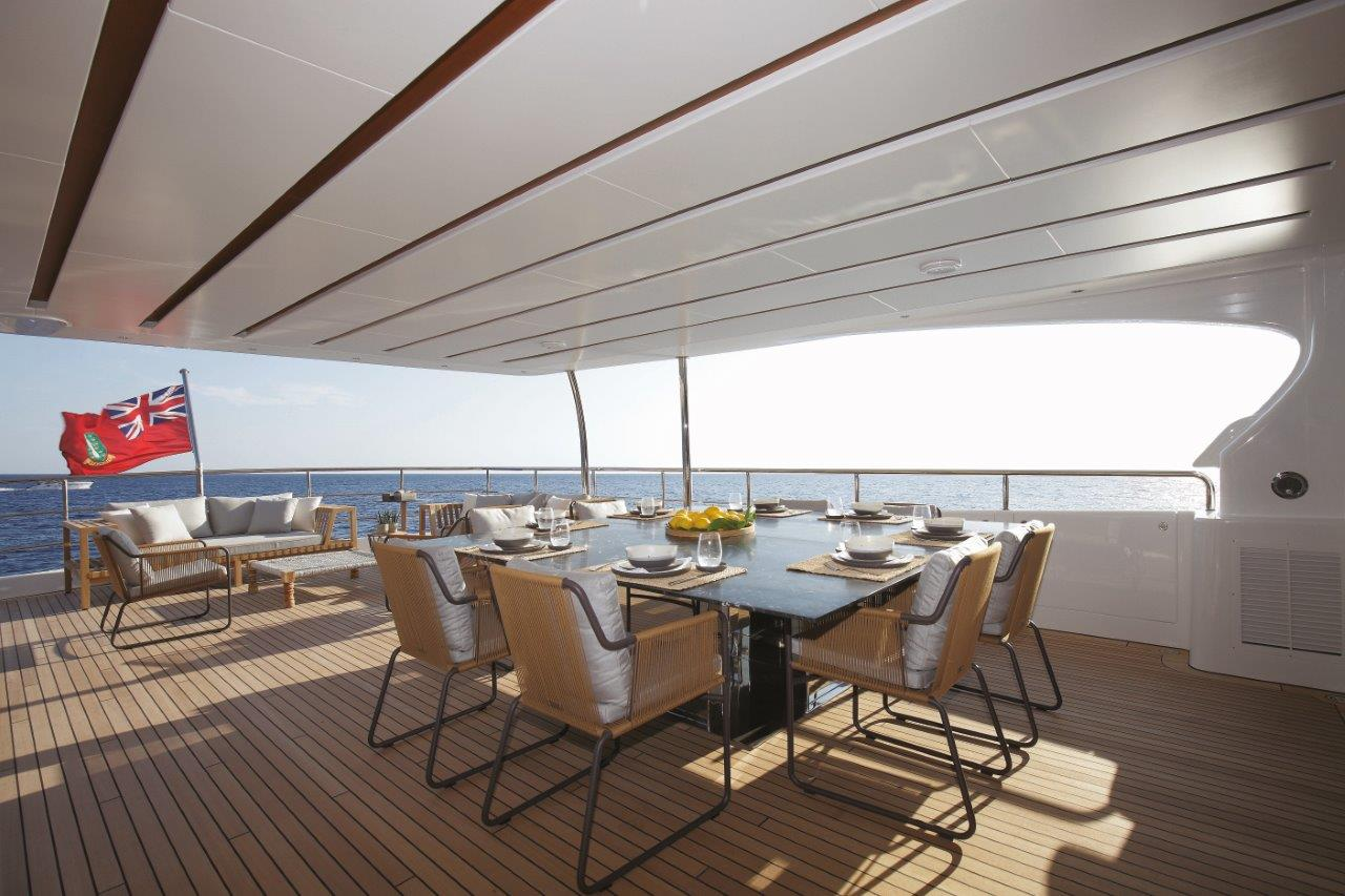 Alfresco Dining Aft Deck