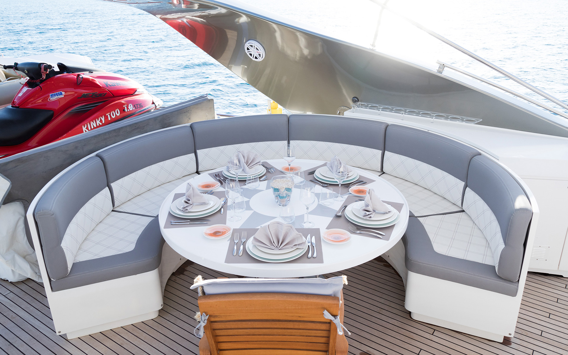 Alfresco Dining Area On The Aft Deck