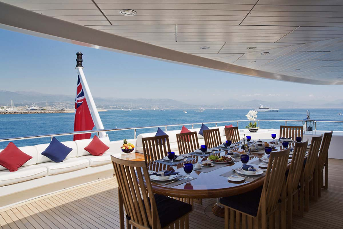 Alfresco Dining Option On The Aft Deck
