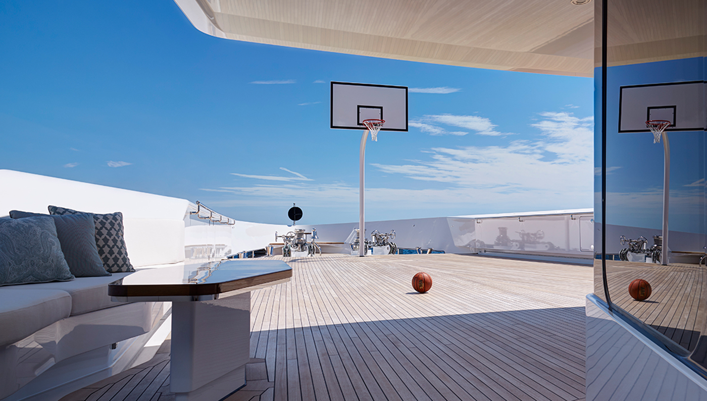 Basketball Court On Board The Superyacht