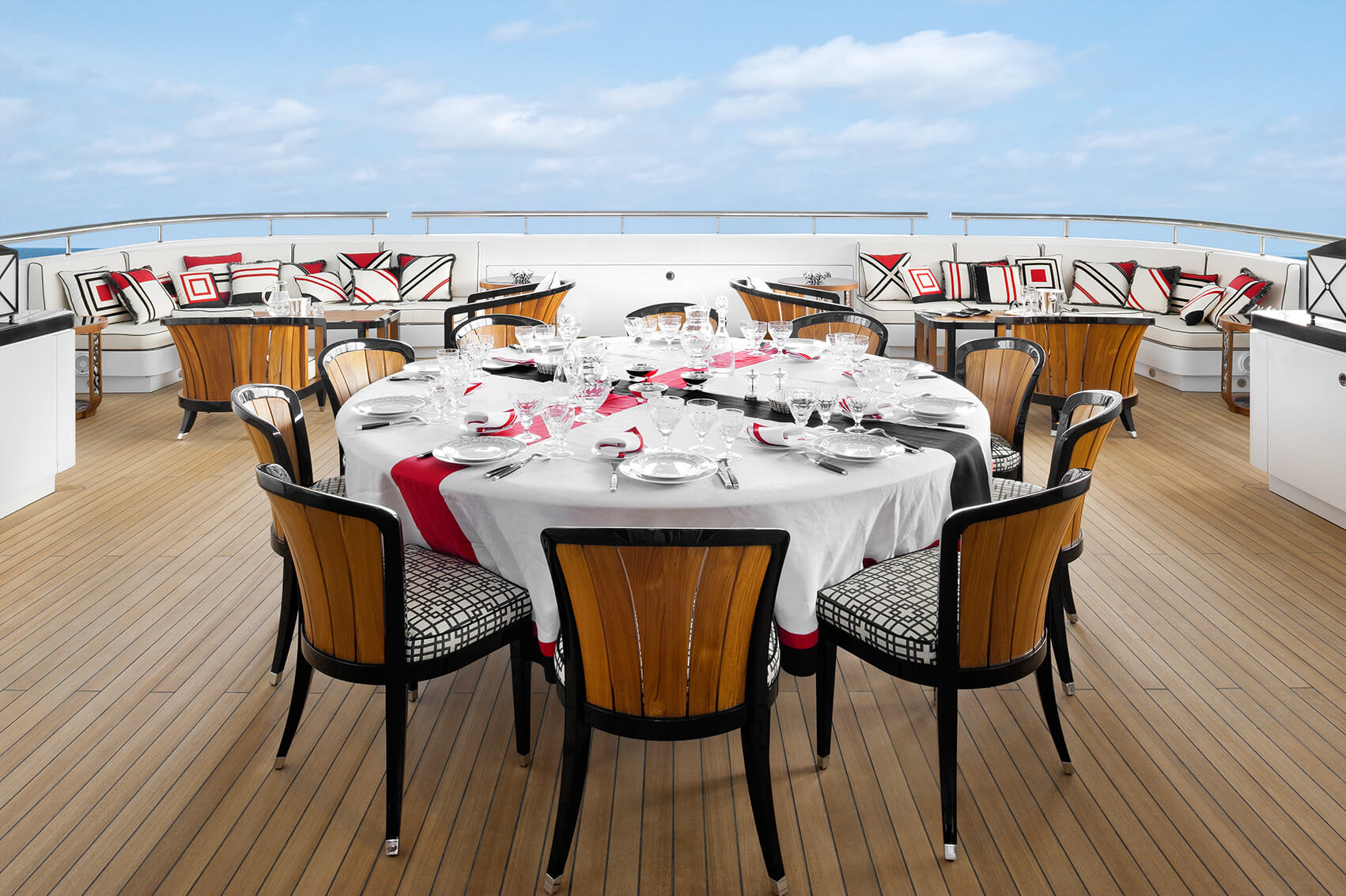 Bridge Deck Al Fresco Dining Area And Seating