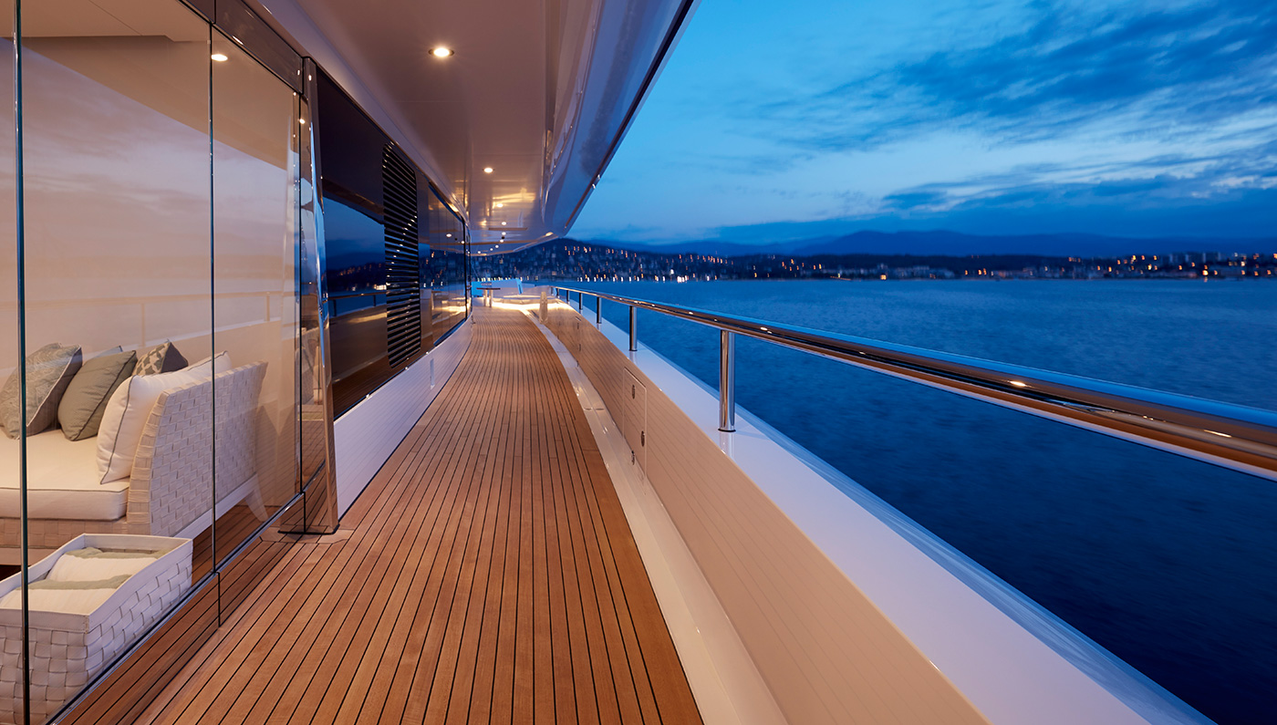 Decks Wrapping Around The Yacht