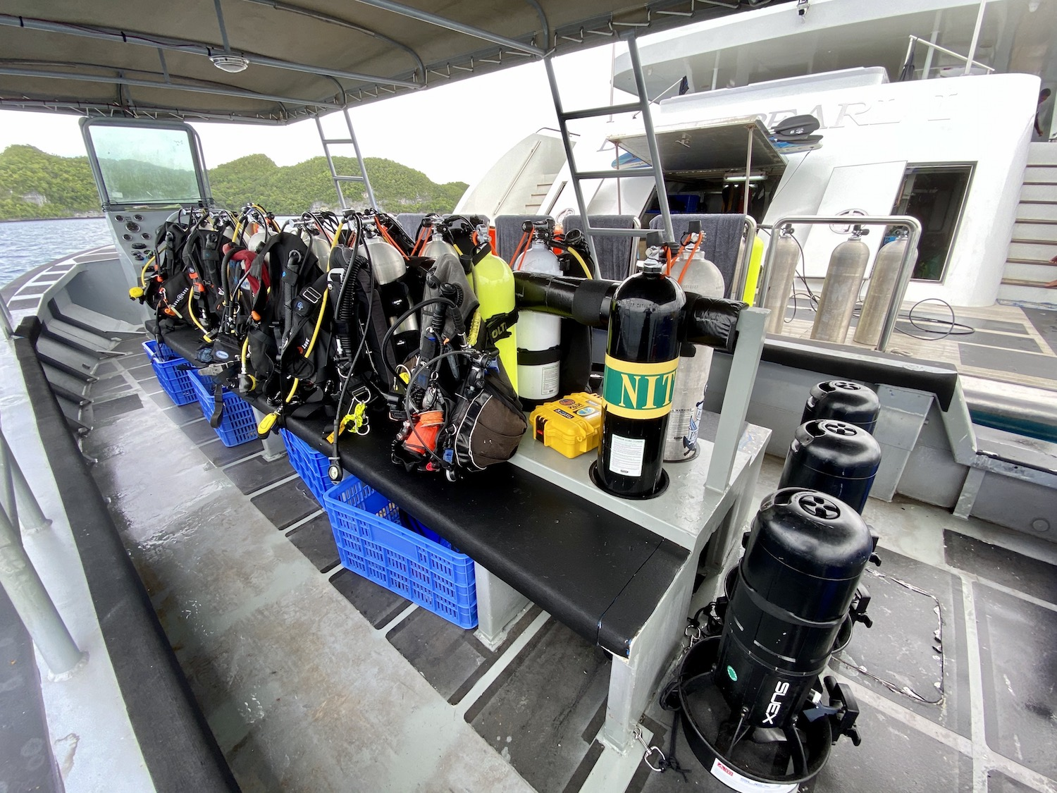Diving Equipment On Black Pearl Yacht