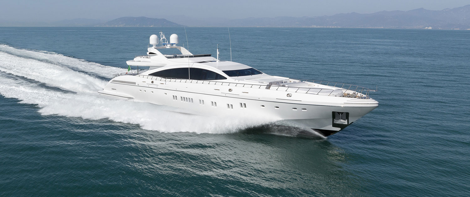 Fast And Sporty Superyacht Of 50m Running Shot