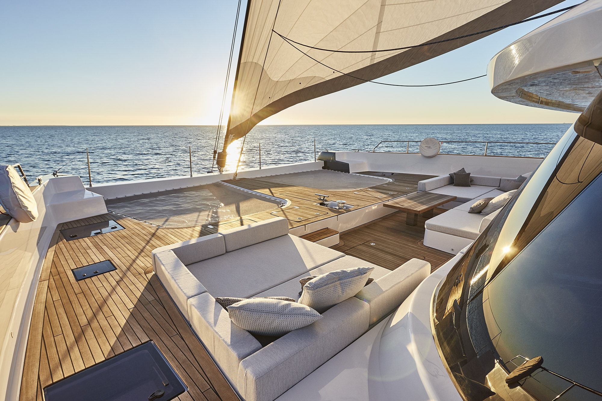 Foredecks With Seating And Relaxation Areas