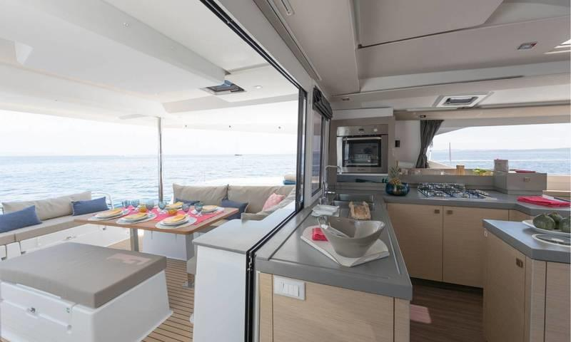 Galley Opened Onto Aft Deck