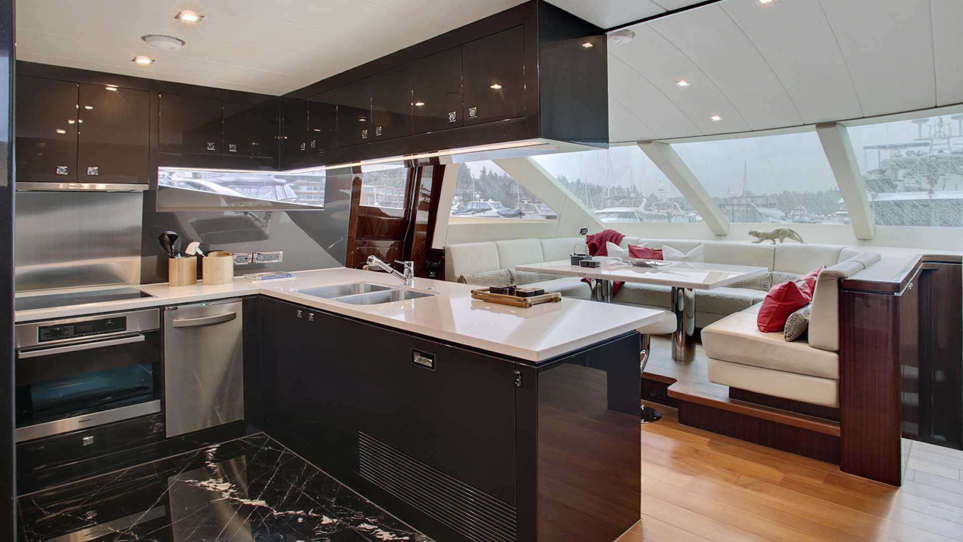 Galley With Dining Area
