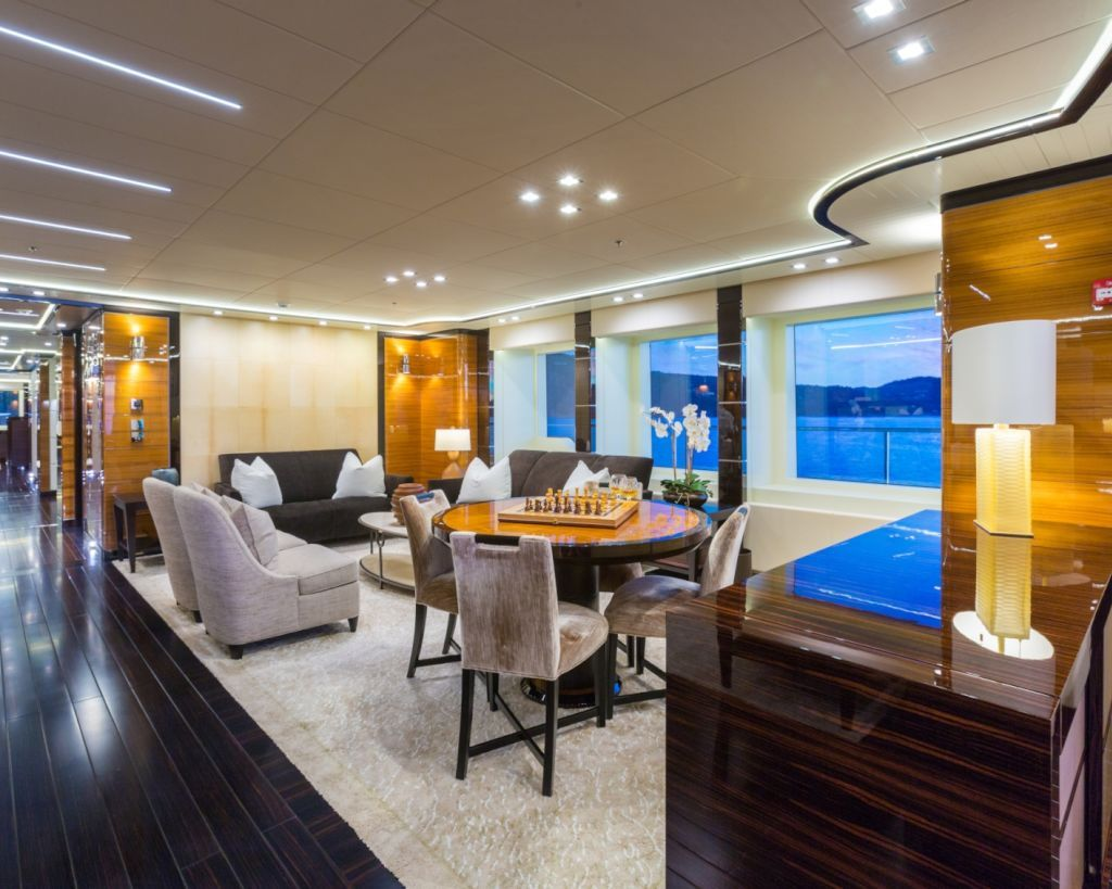Games Area Inside The Yacht