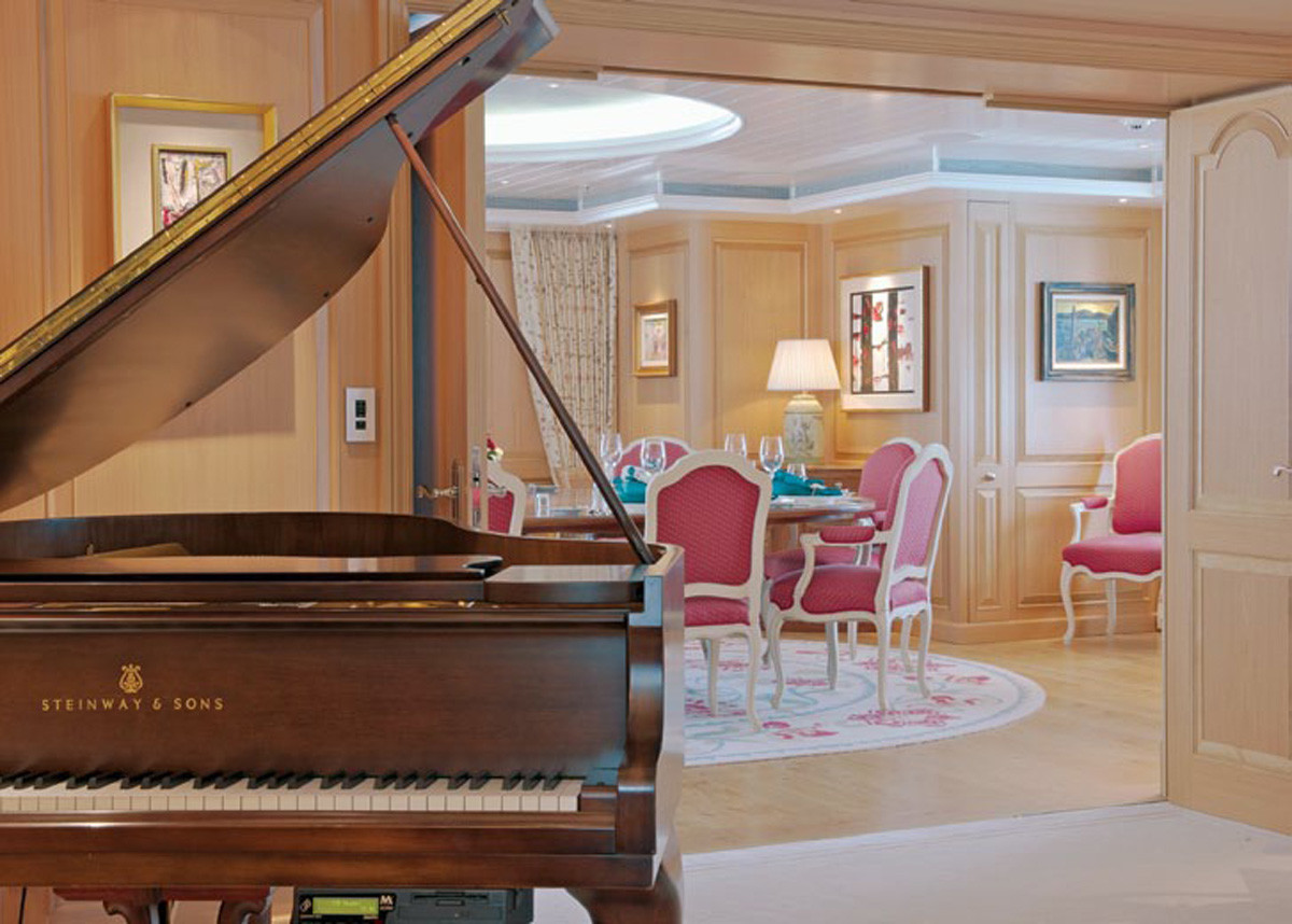 Grand Piano In The Saloon And Dining Area
