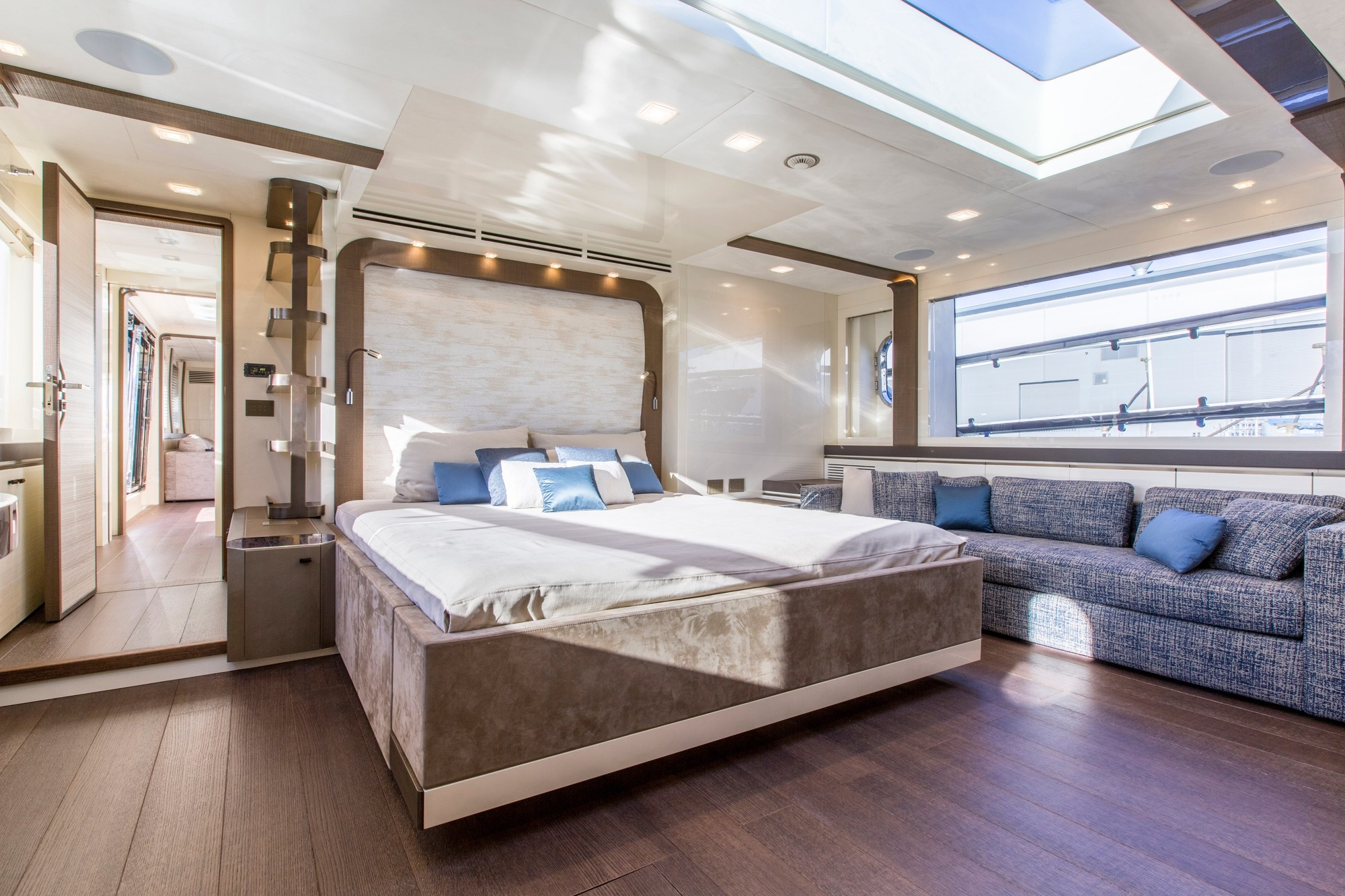 Master stateroom on the main deck