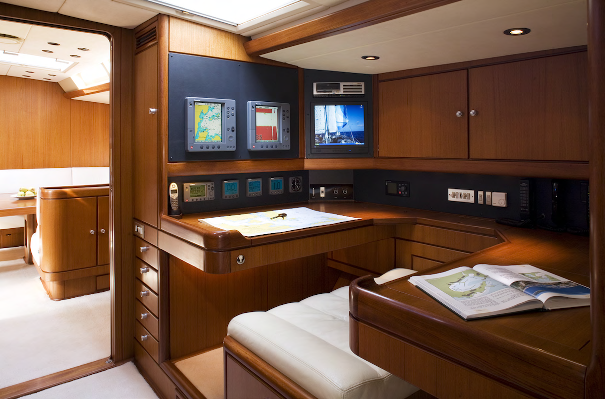 Interiors Of The Yacht