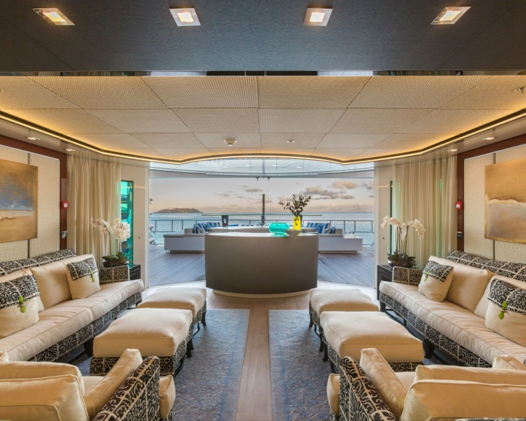 Lounge Looking Out Onto The Aft Deck