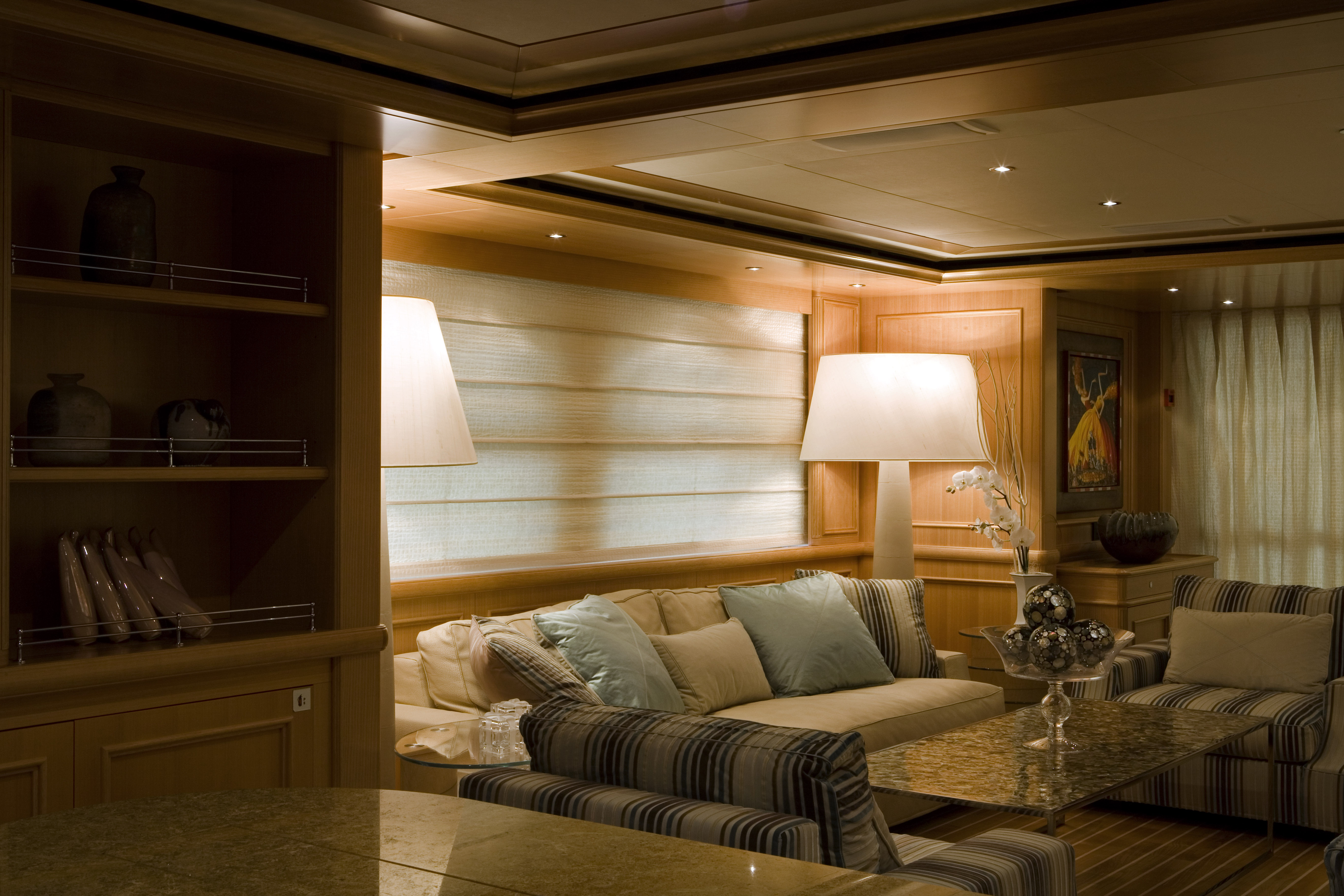 Main Saloon With Comfortable Sofas