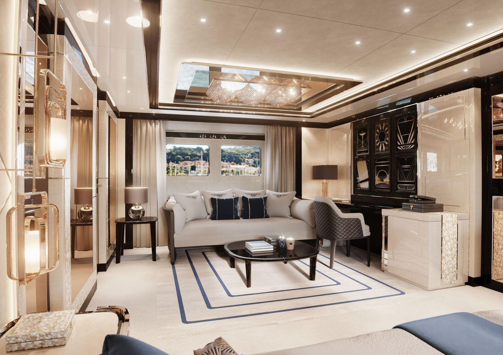 Master Stateroom Lounge And Study Area