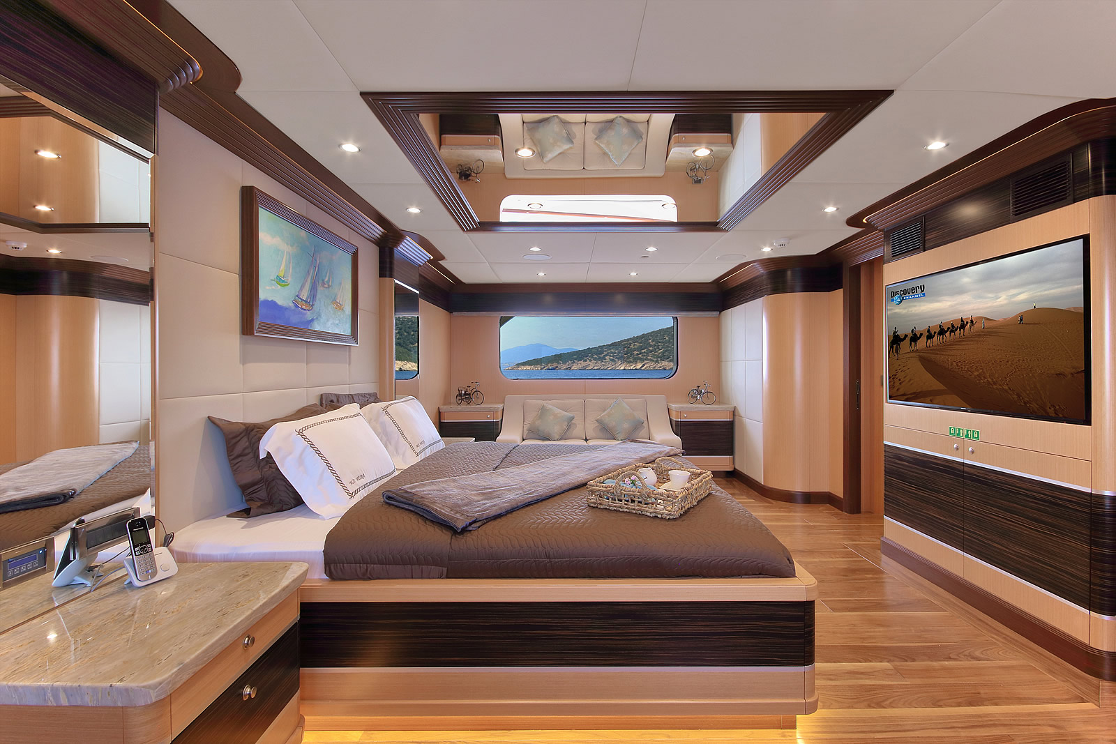 Master Suite With Huge TV