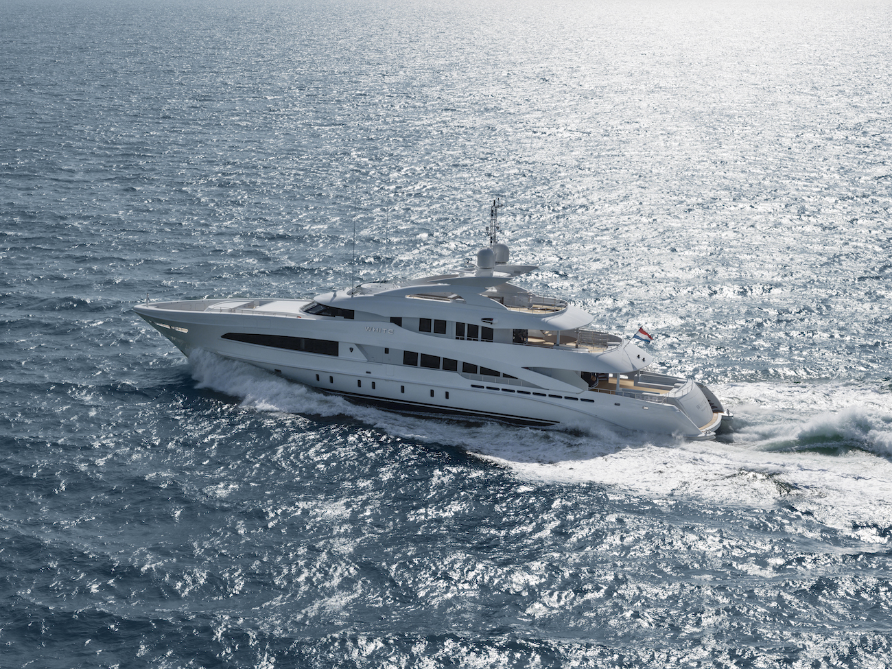 Motor Yacht WHITE On Sea Trials In The North Sea