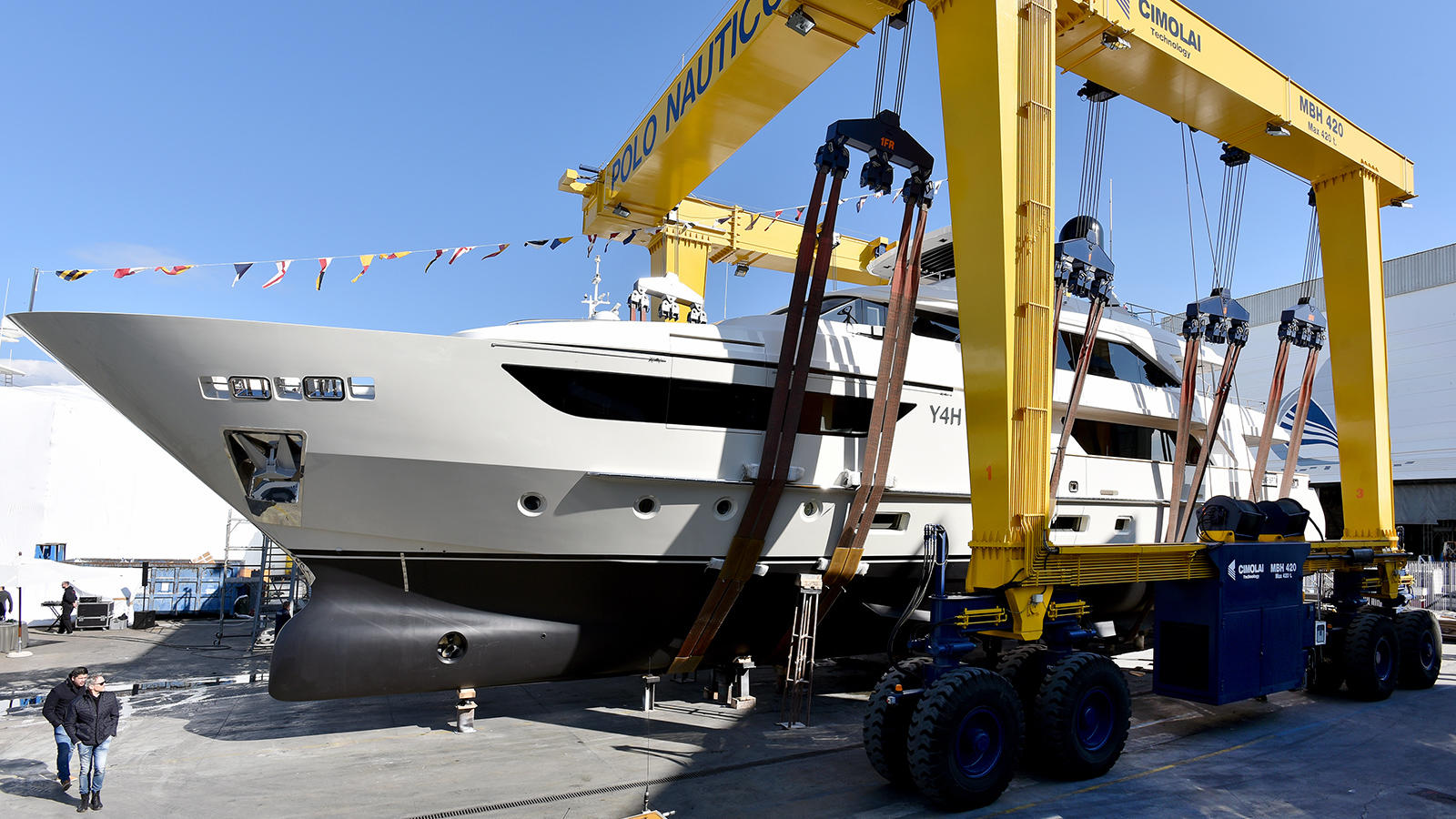 Motor Yacht Y4H At Launch