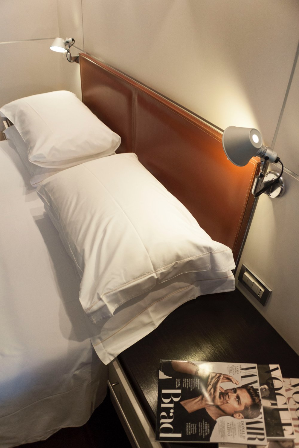Pillows And Bed Light In Double
