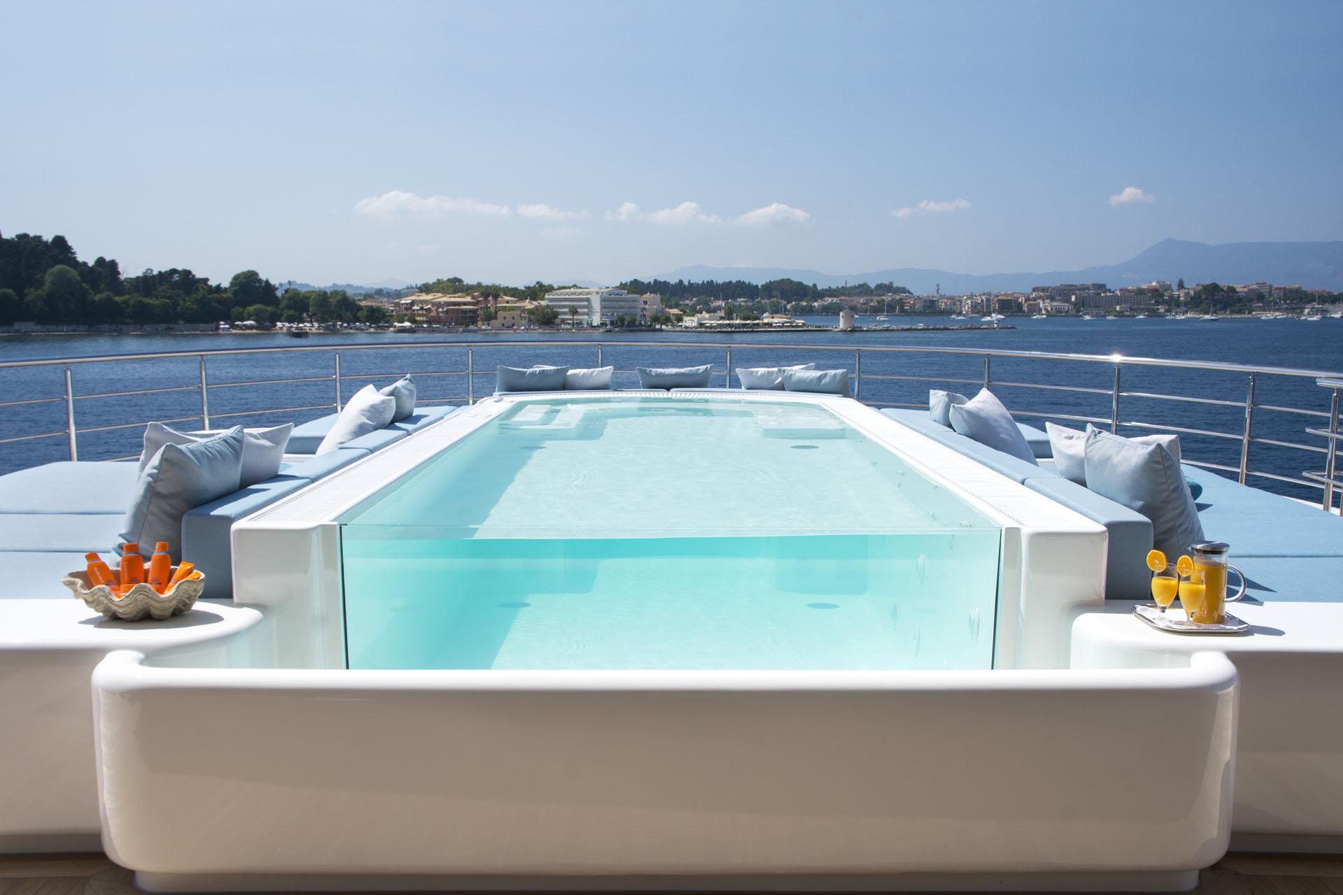 Pool Aboard Mega Yacht