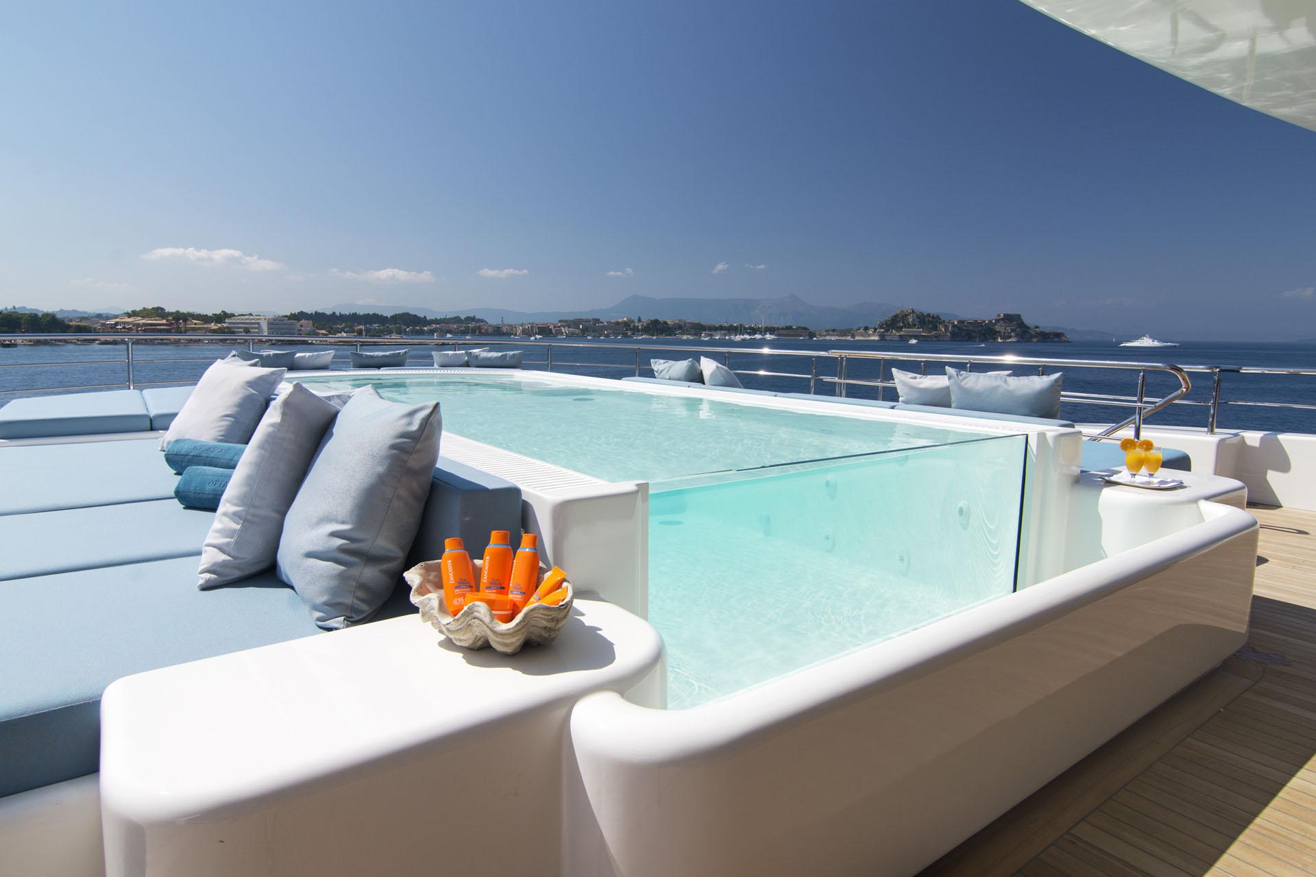 Pool On Mega Yacht
