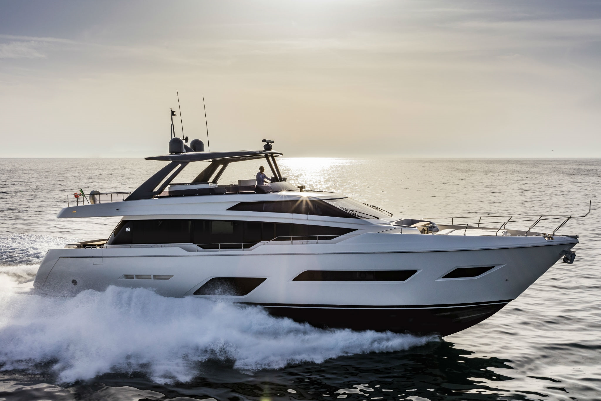 Running Profile Of Ferretti Yachts 780 - Sistership To EPIC
