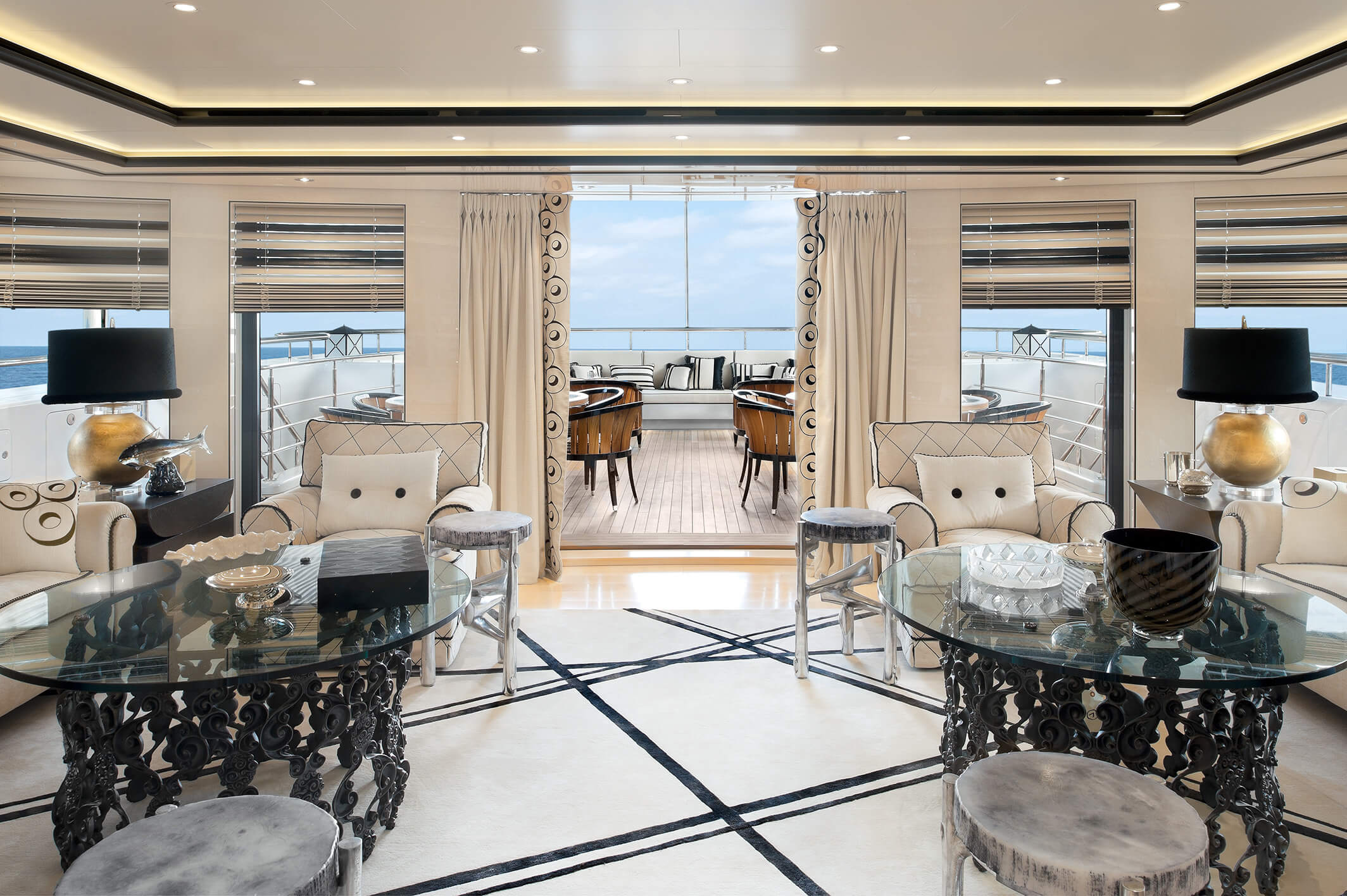 Saloon Looking Out On The Aft Deck