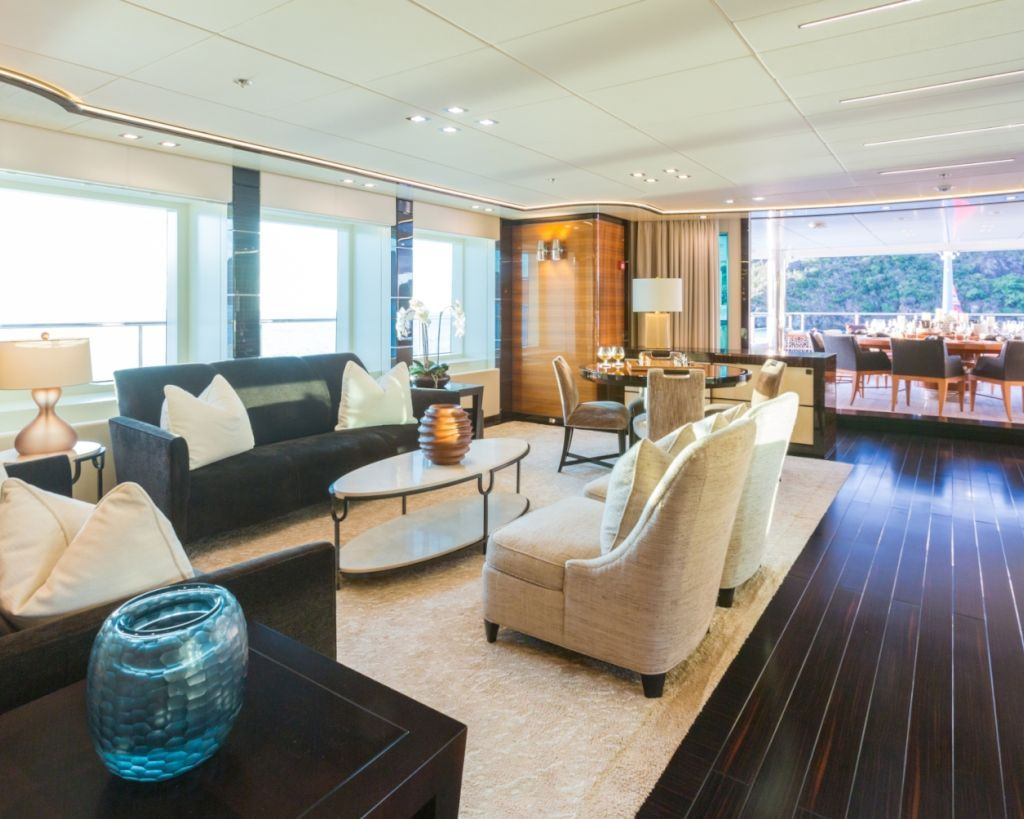 Saloon With Games Table And Lounging Area With Alresco Dining Further Aft