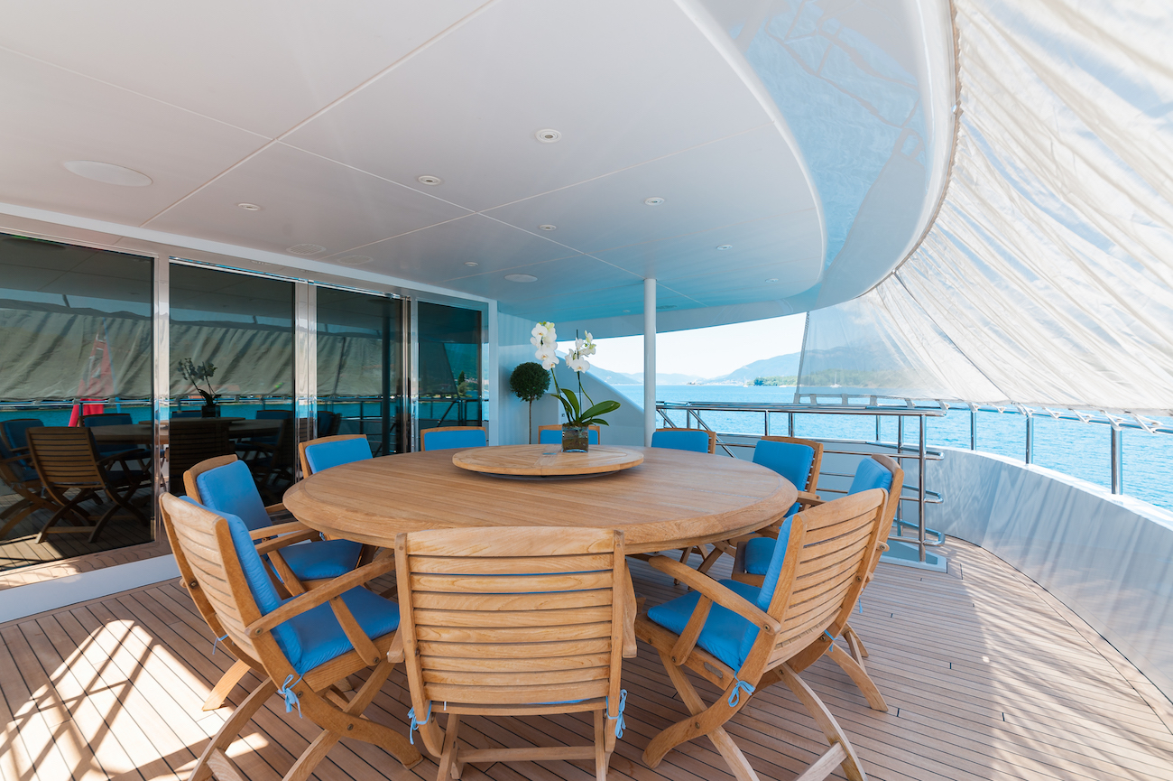 Shaded Aft Deck